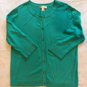 Christopher & Banks Green Women's Cardigan Size XL